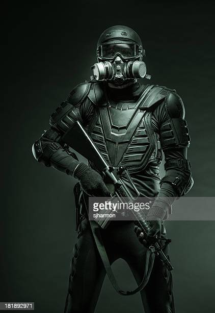 Soldier Ready for Action Against Terrorists