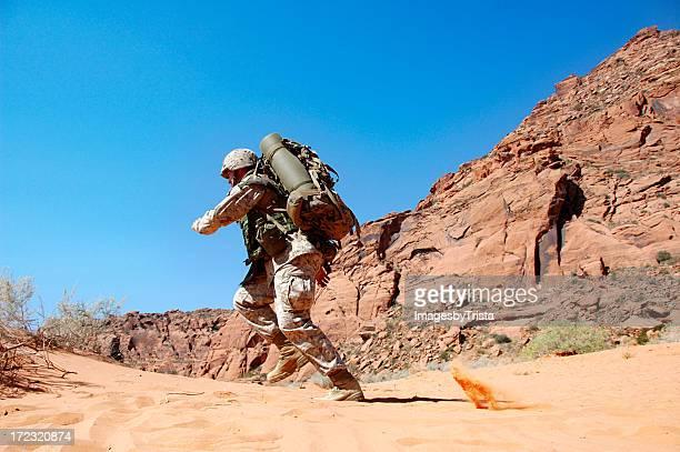 Soldat en feu