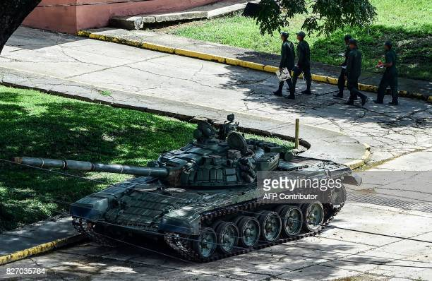 Soldiers are seen at the Paramacay Fort headquarters of the National Bolivarian Armed Forces' 41st Infantry Brigade in Venezuela's third city...