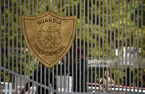 Soldiers are seen through a gate at the entrance of the Matamoros military barracks where former VicePresident Roxana Baldetti is in preventive...
