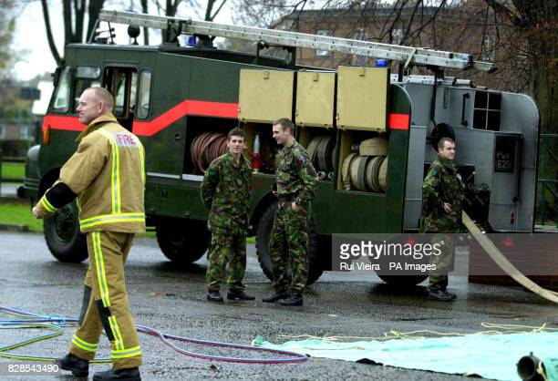 Soldiers at Chilwell barracks Nottingham prepare to take over firefighter's duty ahead of the national strike by the Fire Brigades Union