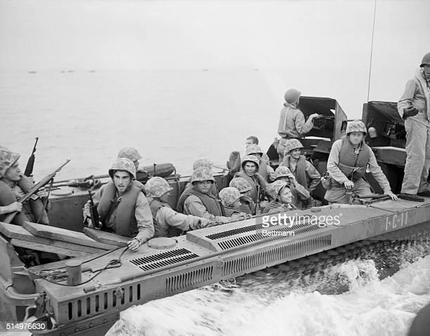 Soldiers at Inchon Invasion Korea