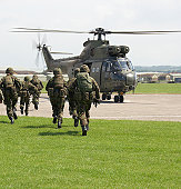 British Army Exercise with helicopters