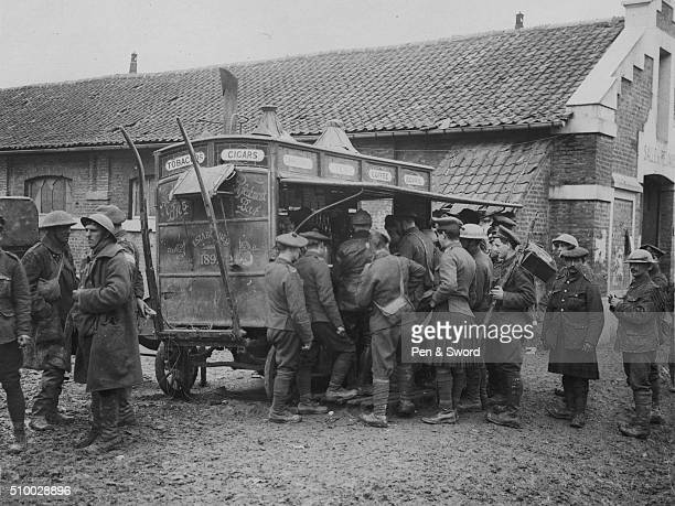 soldiers buying cigarettes and cigars France