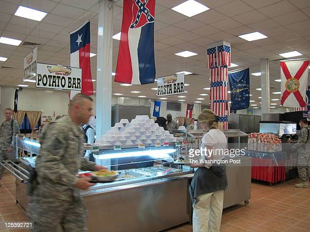 Soldiers enjoyed the last few days of allAmerican food in this mess hall in Camp Victory to be shut down as the Americans continue their process of...