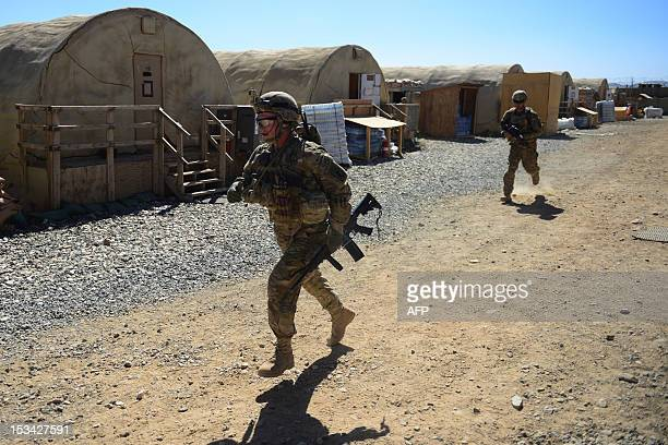 Soldiers from 1st Squadron 91st US Cavalry Regiment 173d Airborne Brigade Combat Team operating under the NATO sponsored International Security...