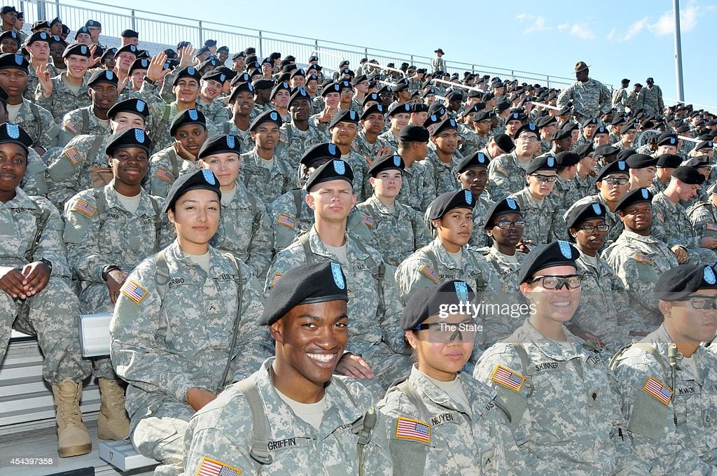 Soldiers from Fort Jackson are on on hand as Benedict meets South Carolina State in the 2014 Palmetto City Classic in Columbia, S.C., on Saturday, Aug. 30, 2014.