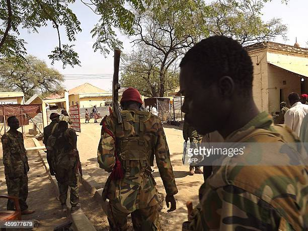 Soldiers from South Sudan's army patrol the streets of Malakal in the Upper Nile State of South Sudan on December 31 2013 South Sudan's warring...