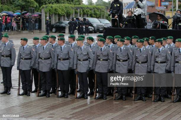 Soldiers from the German army stand as guard of honour A funeral mass for the former German Chancellor Helmut Kohl was held in the Cathedral of...