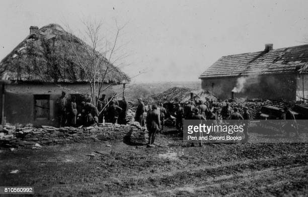 Soldiers Gathered in a Village
