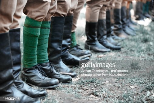 Soldiers in row : Stock Photo