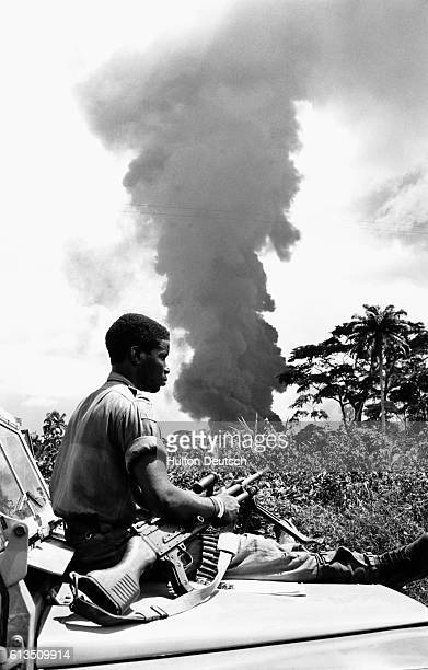 Soldiers involved in the Biafran War in Nigeria in 1968