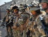 Soldiers of A Company of the1st Battalion Royal Gurkha Rifles preparing for a patrol at their patrol base in a Nahr e Saraj village in Helmand on...