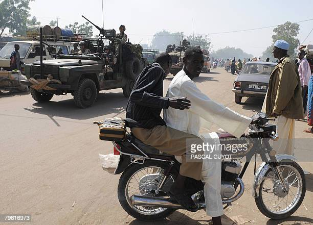 Soldiers of French special forces patrol on February 7 2008 in the center of the Chadian capital Ndjamena Chadian rebels who pulled back from a...