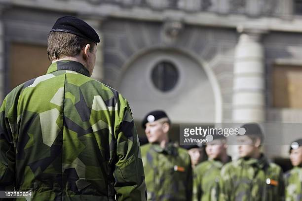 Soldiers on parade (Stockholm, Sweden)