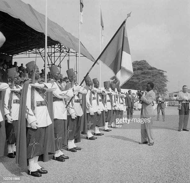 Soldiers parade 01 January 1960 in Yaounde as Cameroun became an independent republic In 1955 the outlawed Union of the Peoples of Cameroon based...