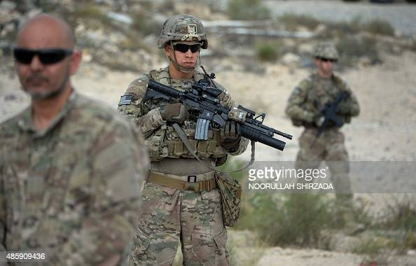 US soldiers part of NATO patrol during the final day of a month long antiTaliban operation by the Afghan National Army in various parts of eastern...