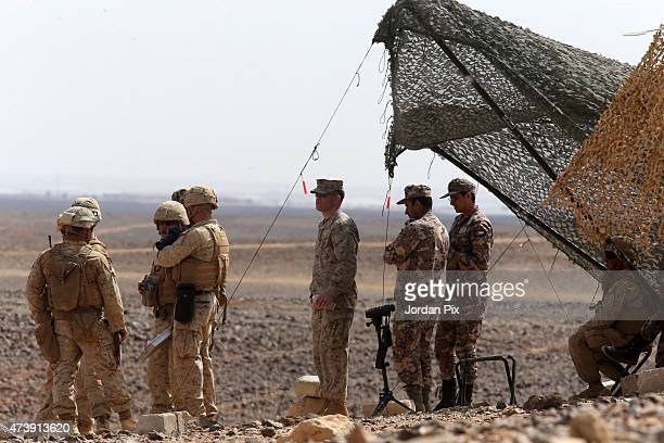 soldiers participate in a Jordanian joint military exercise with 18 nations including the US in the 5th annual Eager Lion May 18 2015 in the...