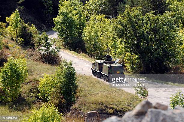 Soldiers patrol on September 24 2008 in the French Alps during a military exercise called 'Jalalabad' as troops will be deployed in Afghanistan as...