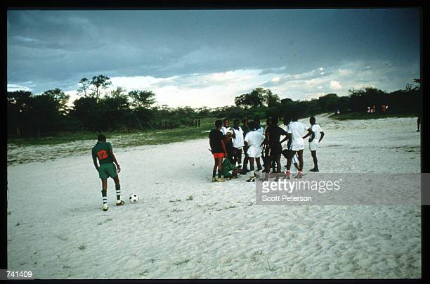 UNITA soldiers play soccer January 23 1990 near Jamba Angola The National Union for the Total Independence of Angola and the Marxist forces in the...