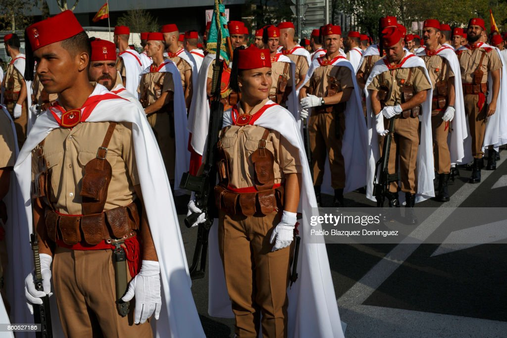 soldiers-prepare-for-the-start-of-spains-national-day-military-parade-picture-id860527186