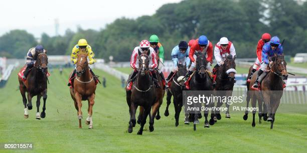 Sole Power ridden by Keagan Latham wins the Betfredcom Temple Stakes during the Betfred Silver Bowl and Temple Stakes Day at Haydock Racecourse...