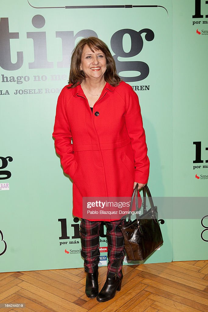 Soledad Mallol attends the 'Lifting' premiere at Infanta Isabel Theatre on March 21, 2013 in Madrid, Spain.