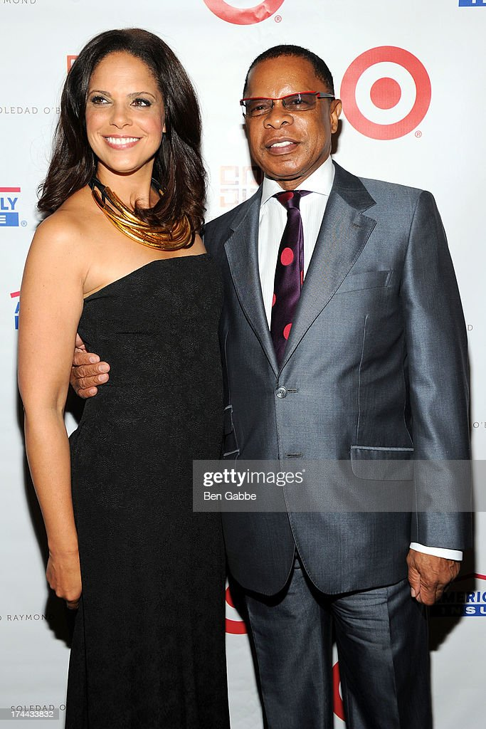 Soledad O'Brien (L) and Gregg Cunningham attend New Orleans To New York City Benefit Gala at Donna Karen's Stephen Weiss Studio on July 25, 2013 in New York City.