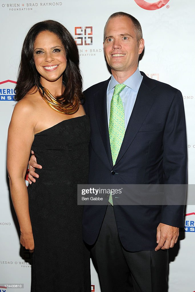 Soledad O'Brien and husband Brad Raymond attend New Orleans To New York City Benefit Gala at Donna Karen's Stephen Weiss Studio on July 25, 2013 in New York City.