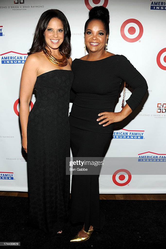 Soledad O'Brien (L) and Kim Brody attend New Orleans To New York City Benefit Gala at Donna Karen's Stephen Weiss Studio on July 25, 2013 in New York City.