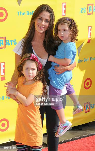 Soleil Moon Frye and daughter's Poet Sienna Rose Goldberg and Jagger Joseph Blue Goldberg arrive at the Creative Arts Fair Supporting PS Arts at...