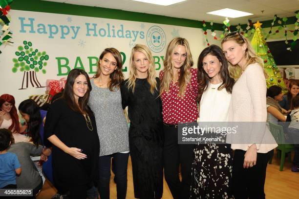 Soleil Moon Frye Jessica Alba Kelly Sawyer Molly Sims Norah Weinstein and Sarah Foster attend the Third Annual Baby2Baby Holiday Party presented by...