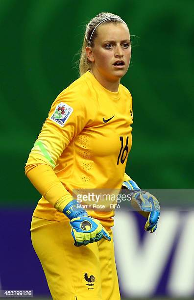 Solene Durand goalkeeper of France reacts during the FIFA U20 Women's World Cup 2014 group D match between France and Costa Rica at Olympic Stadium...