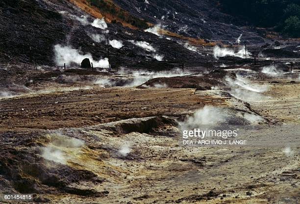 Solfatara in the Phlegraean Fields in Campania Italy
