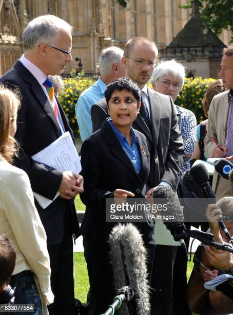 Solicitor Phil Shiner and Liberty Director Shami Chakrabarti speak to the media on Abingdon Green outside the House of Lords in central London...