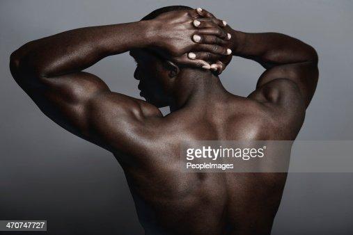 naked black man lower half