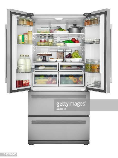 Solid open refrigerator