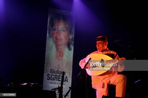 Solidarity Concert At The Olympia For Reporters Without Borders Concert à l'Olympia organisé par le quotidien 'Libération' et l'organisation...