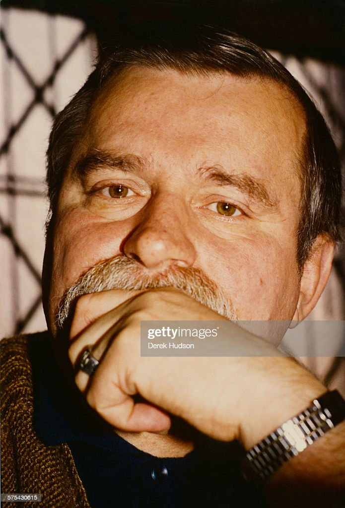 Solidarnosc chairman <a gi-track='captionPersonalityLinkClicked' href=/galleries/search?phrase=Lech+Walesa&family=editorial&specificpeople=93677 ng-click='$event.stopPropagation()'>Lech Walesa</a>, Poland, 3rd/4th November 1988. Pictured during a visit by British Prime Minister Margaret Thatcher to Poland.