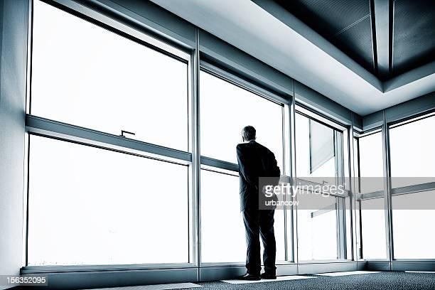 Solitary businessman