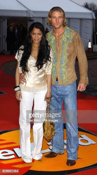 Solo artist Blu Cantrell arrives for the annual Brit Music Awards 2004 at Earls Court London