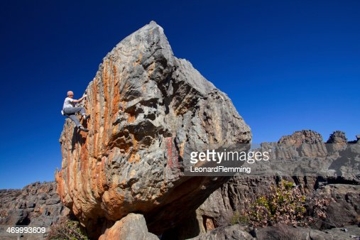 Solo climber : Stock Photo