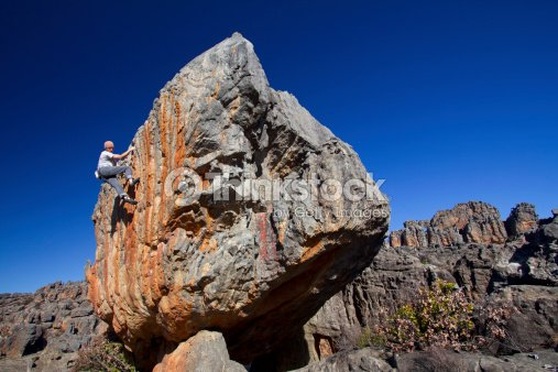 Solo climber : Stock Photo