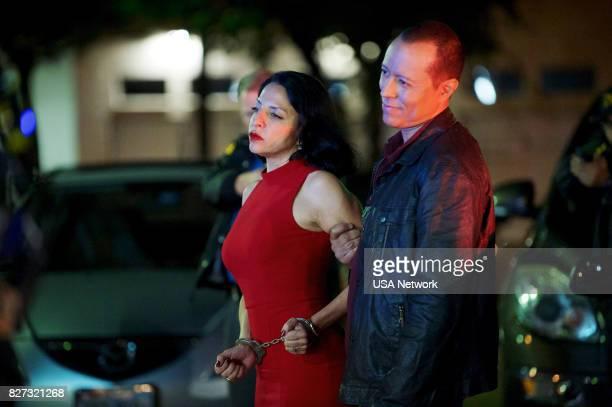 SOUTH 'Solo El Amor De Una Madre' Episode 209 Pictured Veronica Falcón as Camila Vargas Yancey Arias as Colonel Alberto Cortez