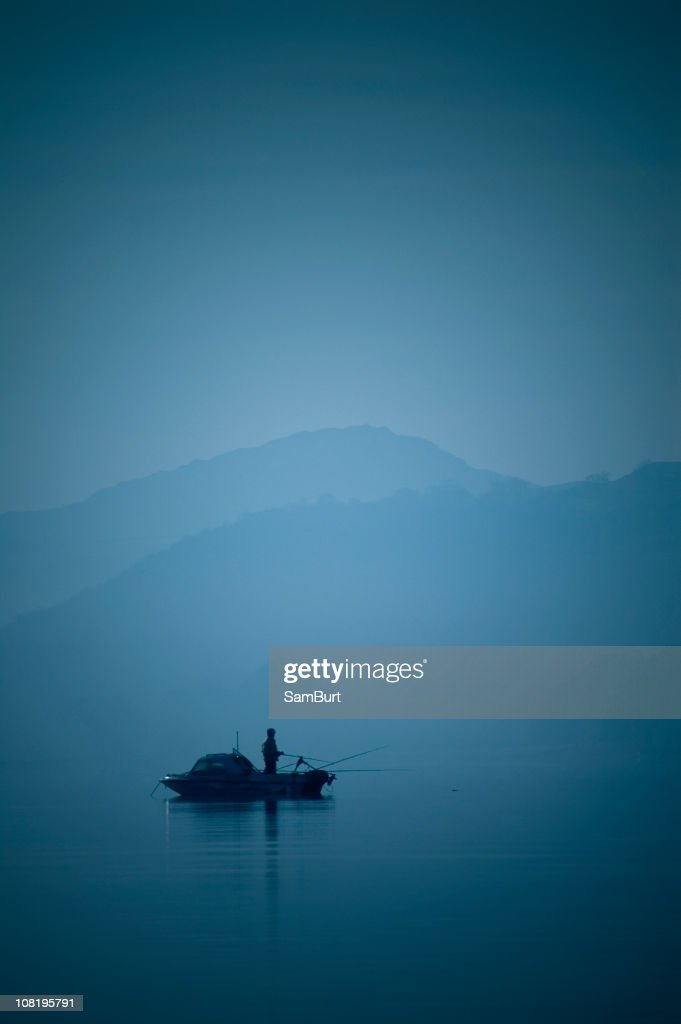 Solo Fishing : Stock Photo