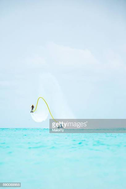 Solo Guy Airboarding or Flyboarding Vertical