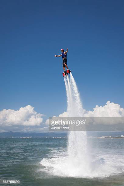 Solo Guy Airboarding Vertical Thumbs Up