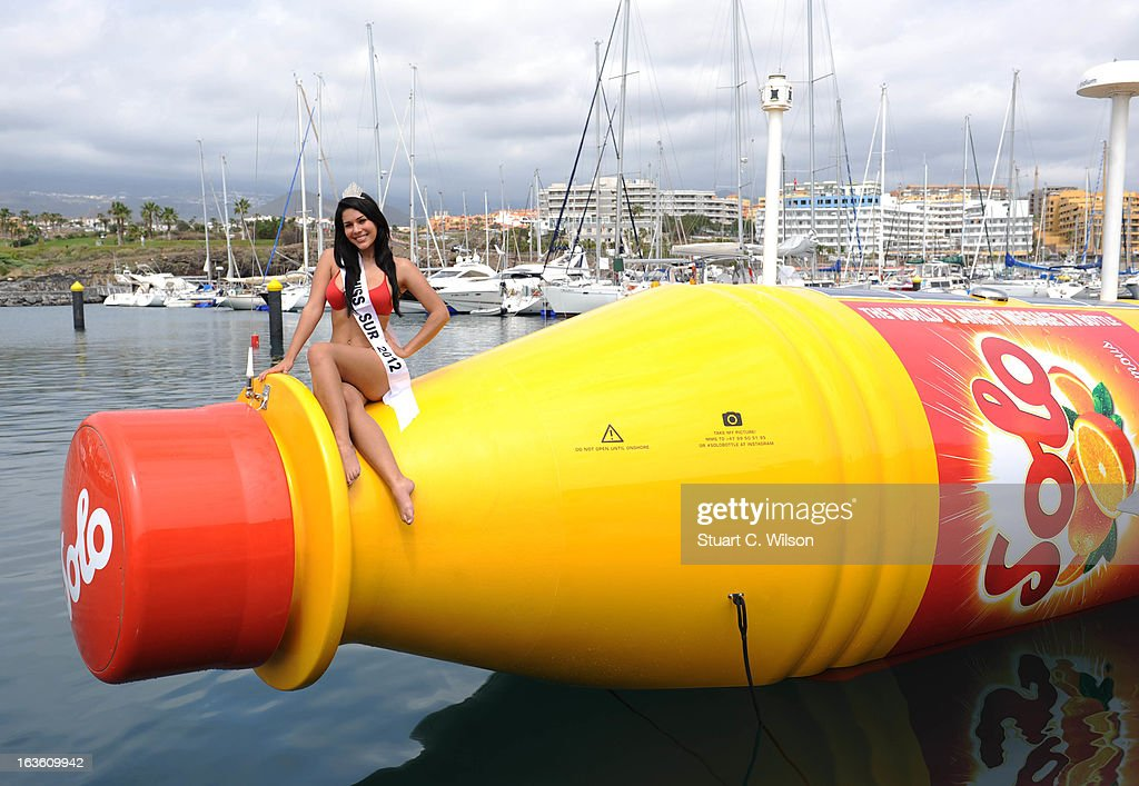 Solo Launches The World's Largest Message in a Bottle at Marina San Miguel on March 13, 2013 in Tenerife, Spain.