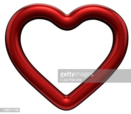 Solo red heart shaped symbol : Stock Photo