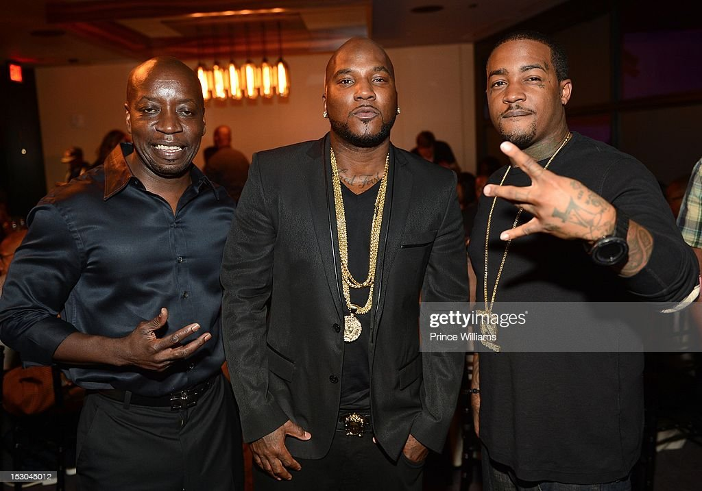 Soloman, <a gi-track='captionPersonalityLinkClicked' href=/galleries/search?phrase=Young+Jeezy&family=editorial&specificpeople=537540 ng-click='$event.stopPropagation()'>Young Jeezy</a> and Skrilla attend Jeezy's birthday extravaganza at Reign Nightclub on September 28, 2012 in Atlanta, Georgia.